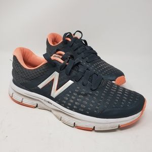 Women's New Balance grey peach sneakers size 8.5